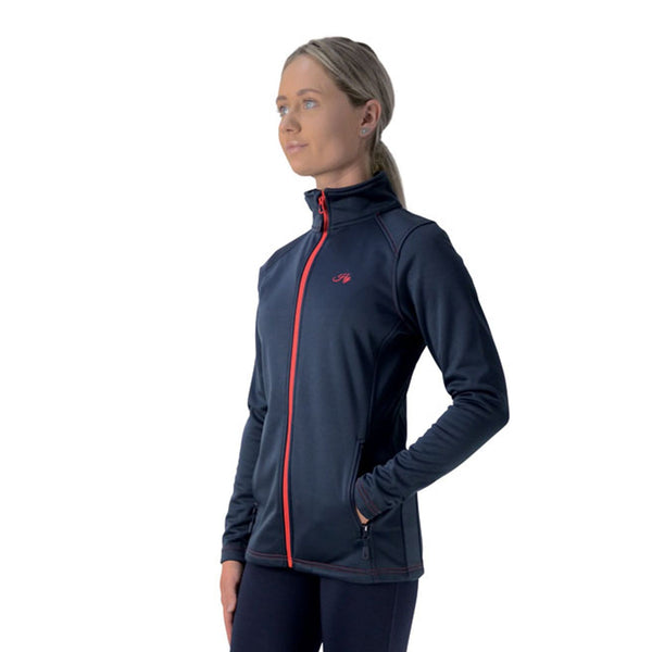 Hy Signature Softshell Jacket 22099 Navy and Red Front
