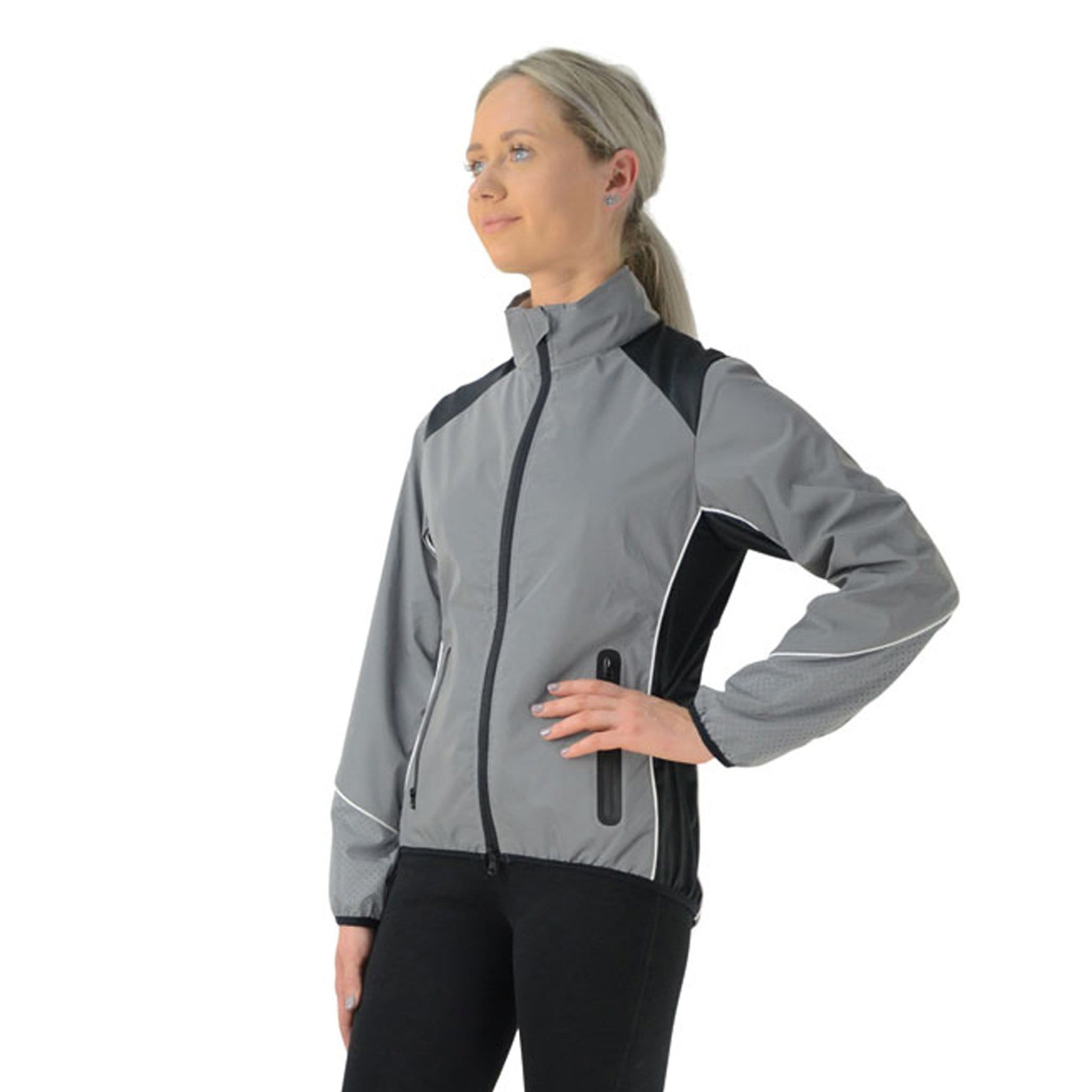 HyVIZ Silva Mercury Reflective Jacket 18098 On Model Front