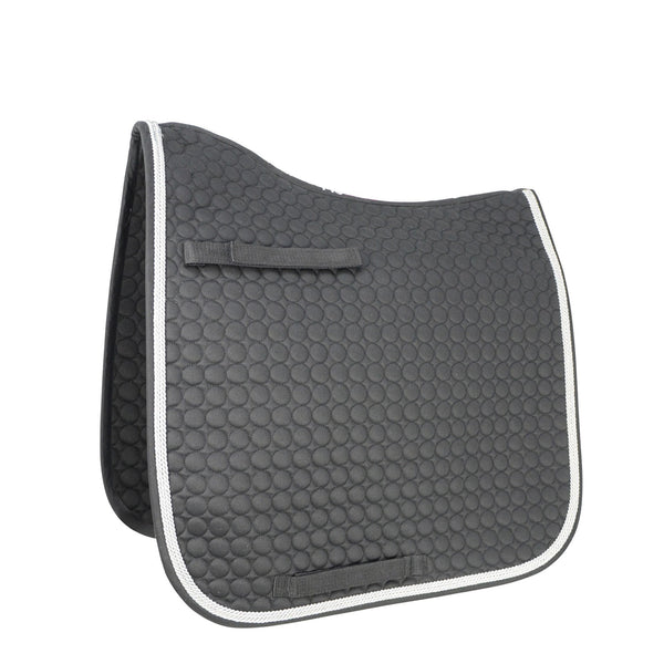 HyWITHER Double Braid Dressage Pad Black 10910