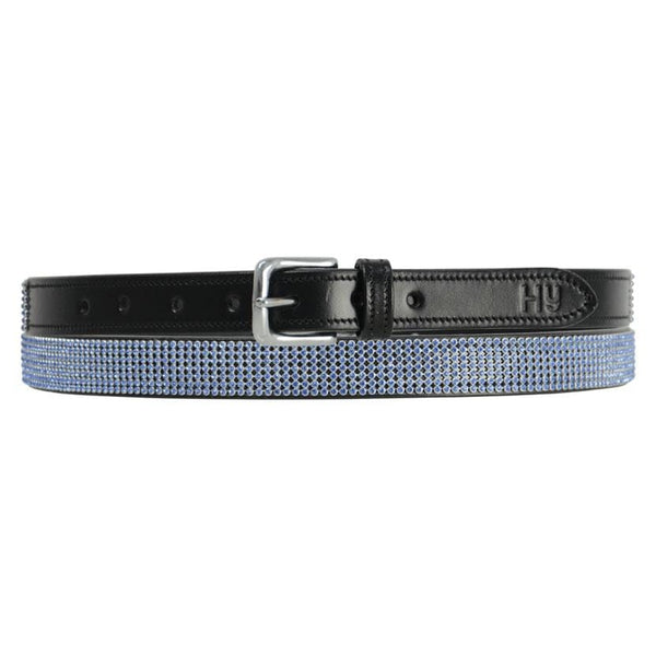 Hy Sparkle Leather Belt - XS (70cm) / Blue | EQUUS