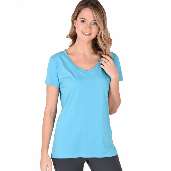 Noble Outfitters Karleigh Short Sleeve Riding Top in Blue 22501