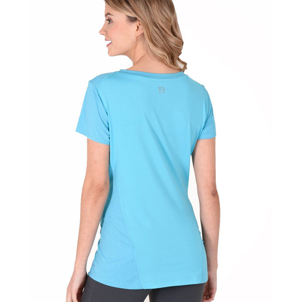 Noble Outfitters Karleigh Short Sleeve Riding Top Rider Rare in Blue 22501