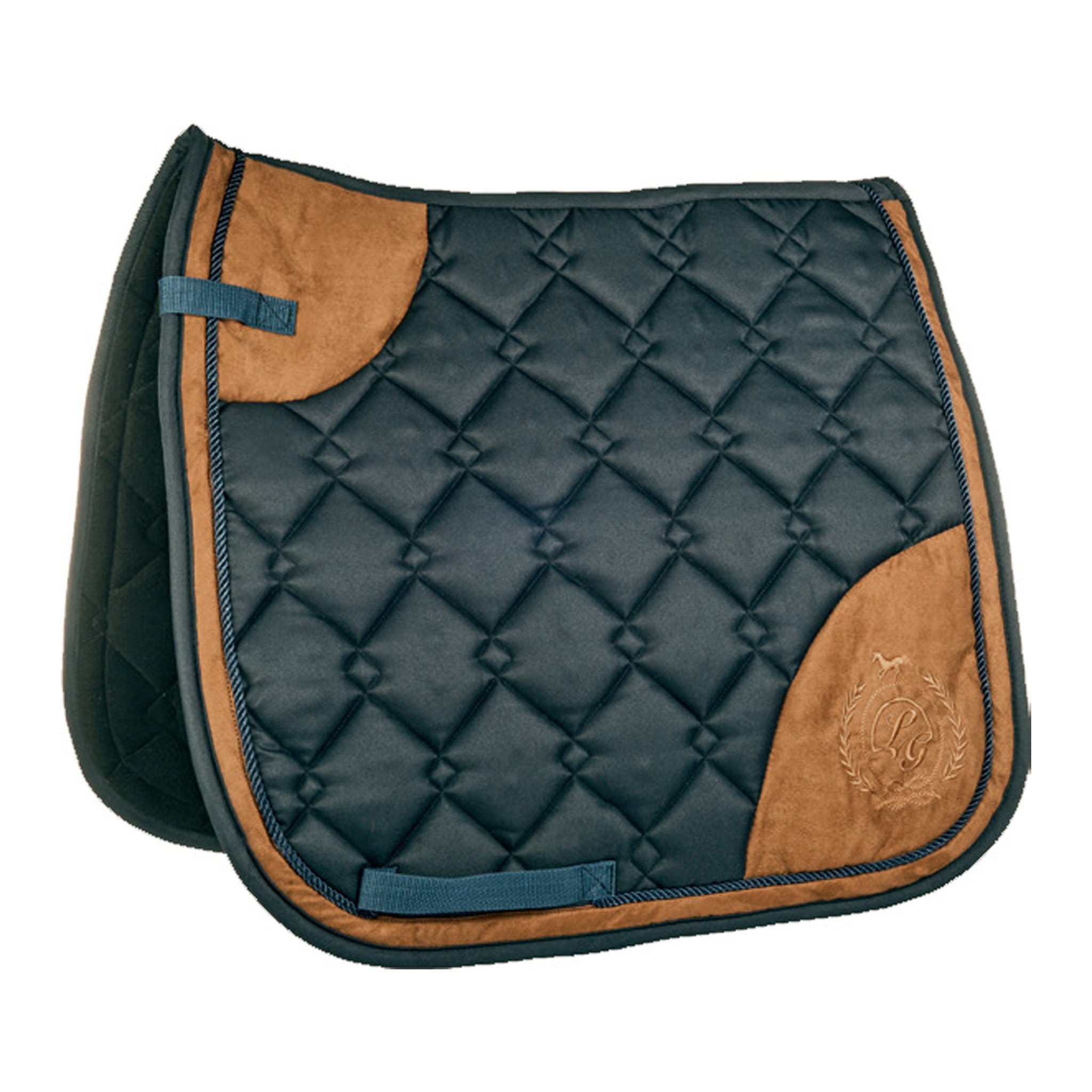 HKM Lauria Garrelli Champagne Saddle Pad 4998 Deep Blue