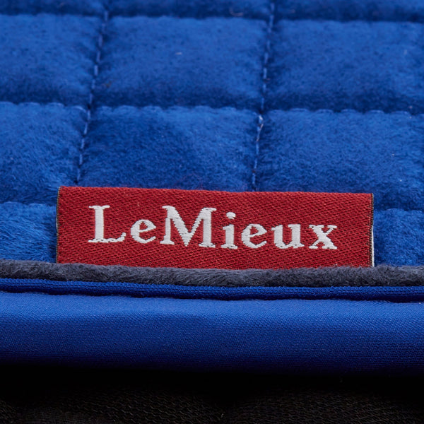 LeMieux Classic Dressage Square Benetton Blue Close Up 7635