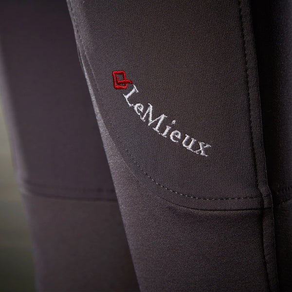 LeMieux Engage Breeches Grey Leg Cuffs Close Up 7704