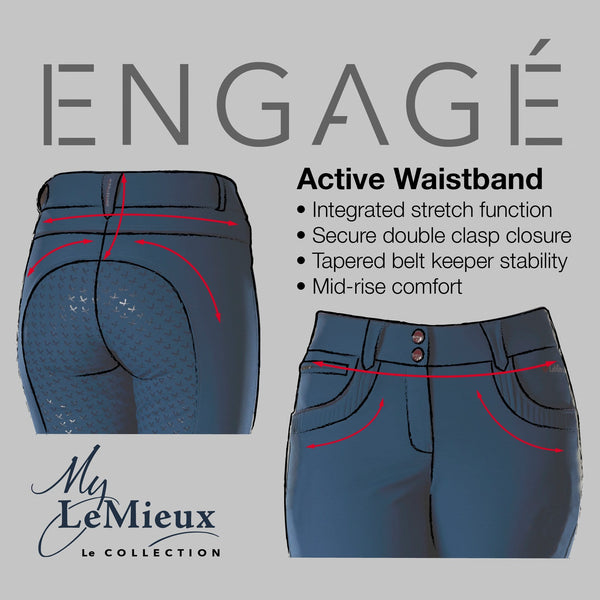 LeMieux Engage Breeches Midnight Waist Band Diagram 7709
