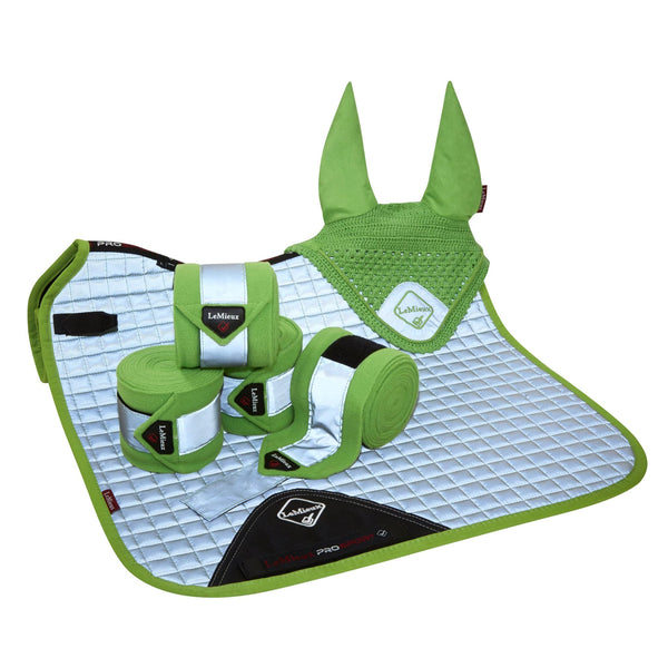LeMieux Hi Visibility Dressage Square Lime Set 7552