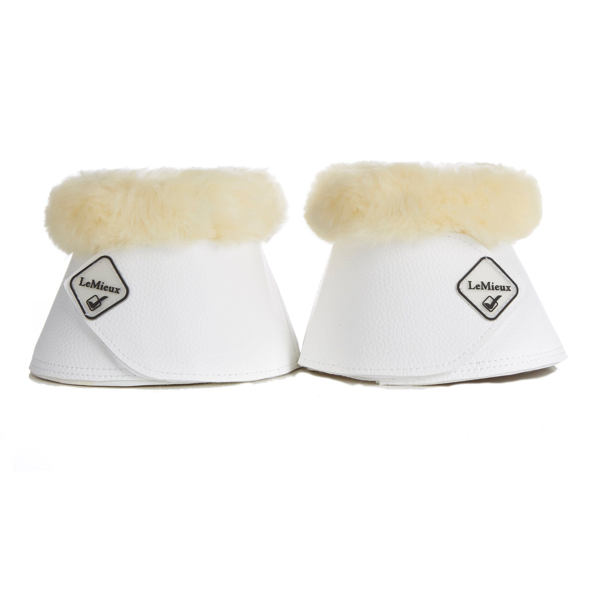 LeMieux Lambskin Wrap Round Over Reach Boots White 9736