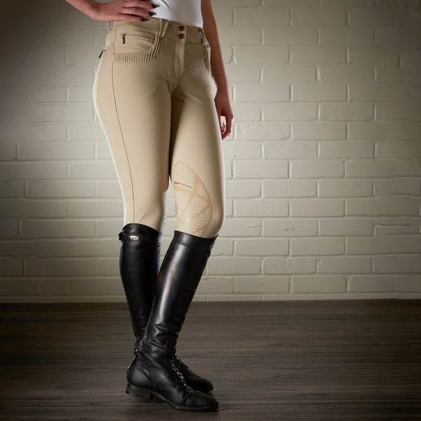 LeMieux Pace Silicone Knee Patch Breeches