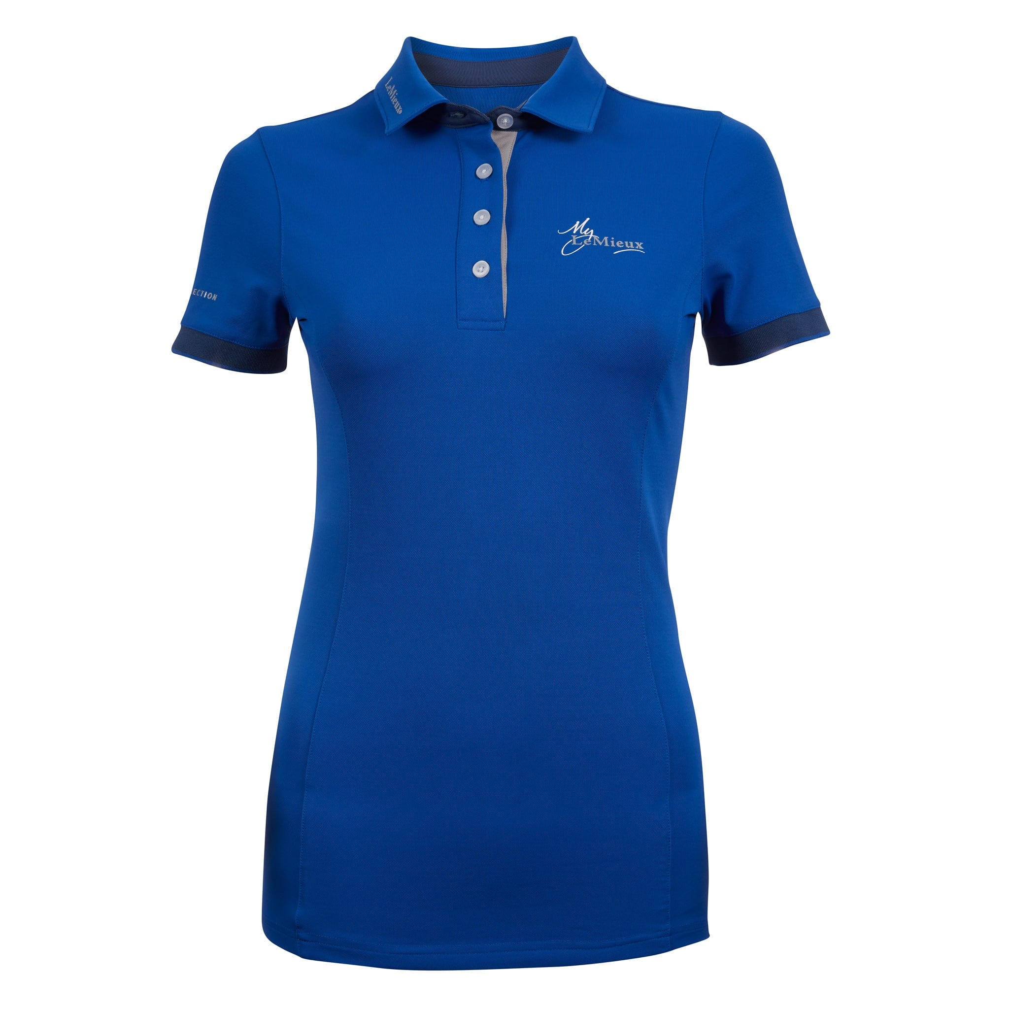 LeMieux Polo Shirt Benetton Blue Front View 6071