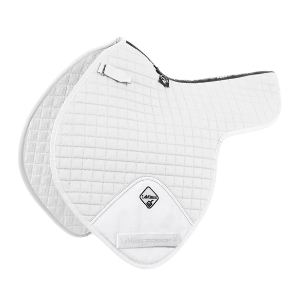 LeMieux ProSport Close Contact Numnah with D-Ring White 1498