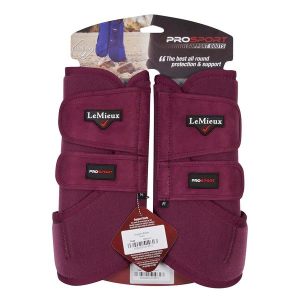 LeMieux ProSport Support Boots Plum with Packaging 7446