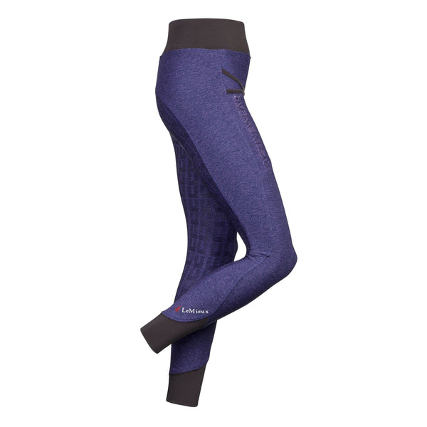 LeMieux Active Wear Pull On Breeches in Blackcurrant Side 6318