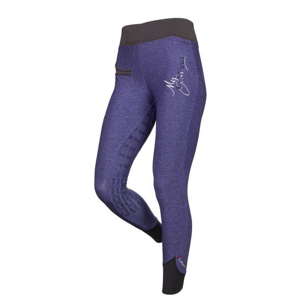 LeMieux Active Wear Pull On Breeches in Blackcurrant Front 6318