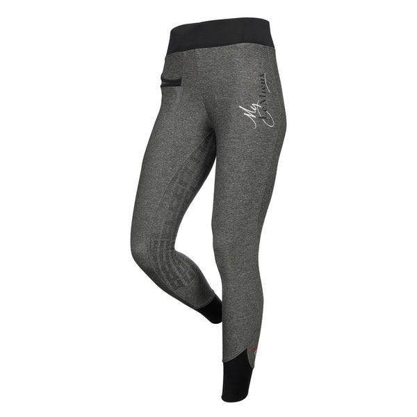 LeMieux Active Wear Pull On Breeches in Grey Front 6318