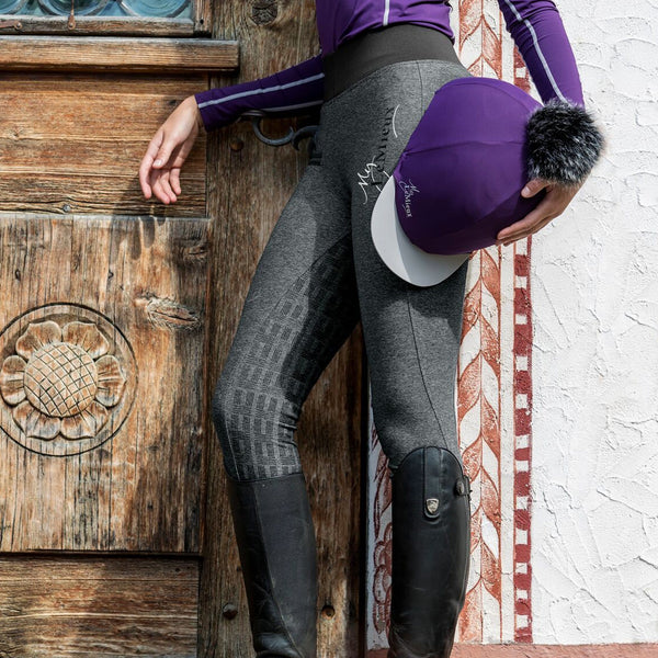 LeMieux Active Wear Pull On Breeches in Grey 6318