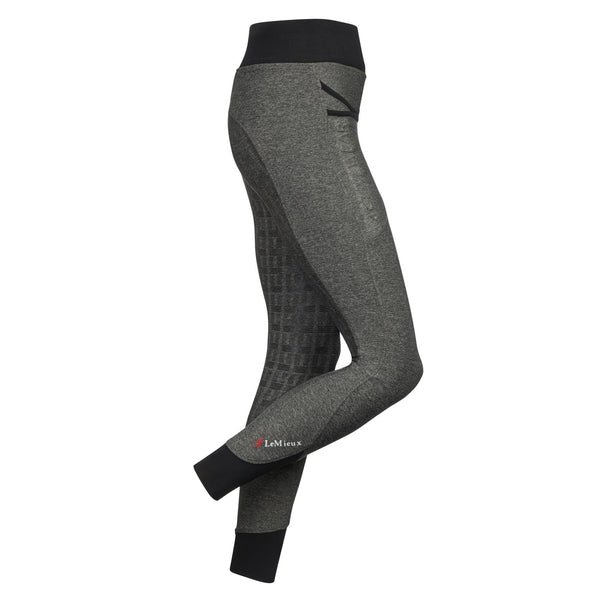 LeMieux Active Wear Pull On Breeches in Grey Side 6318