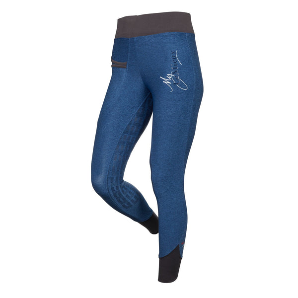 LeMieux Active Wear Pull On Breeches in Navy Front 6318