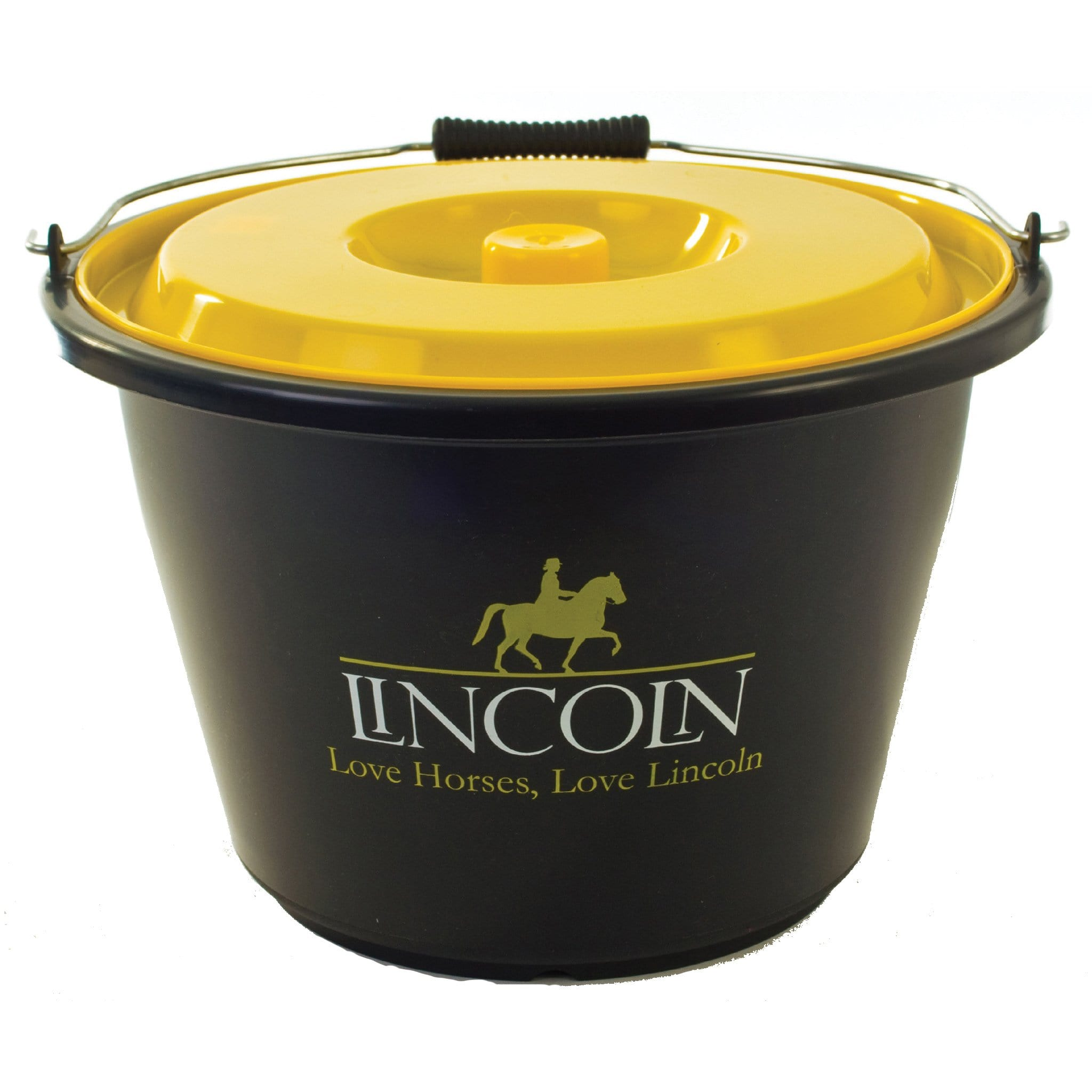 Lincoln Bucket Black with Yellow Lid 2251
