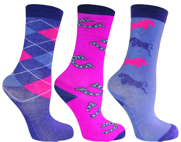 Mark Todd Children's Socks Purple Lilac Pink 884136