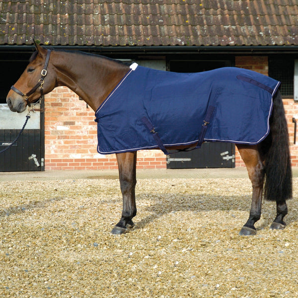 Mark Todd Cotton Sheet in Navy and White 891478