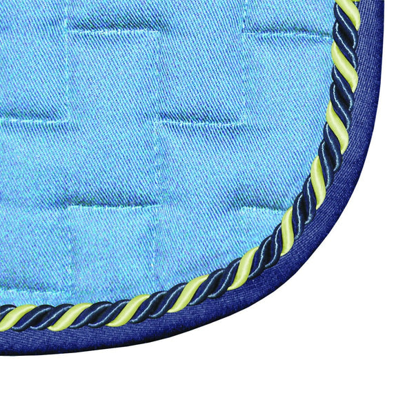 Mark Todd GP Saddle Pad Baby Blue & Royal Blue 860611