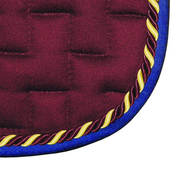 Mark Todd GP Saddle Pad Burgundy & Royal Blue 860613