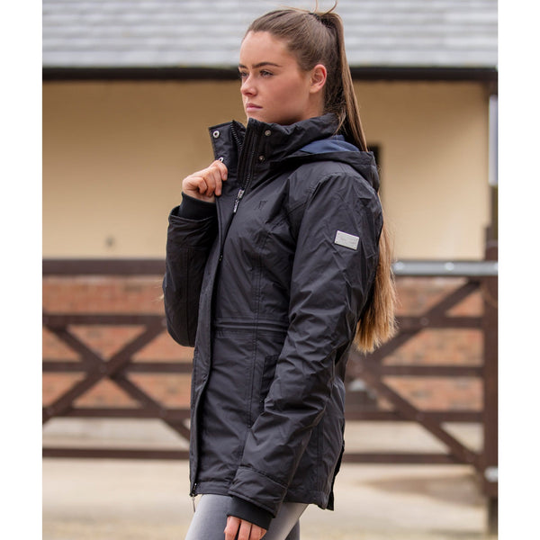Mark Todd Inga Ladies Waterproof Jacket Black Side View TOD810162