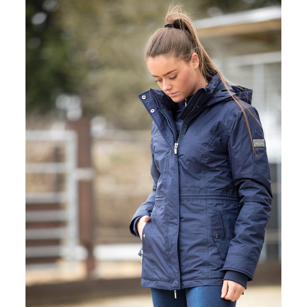 Mark Todd Inga Ladies Waterproof Jacket Navy TOD810167