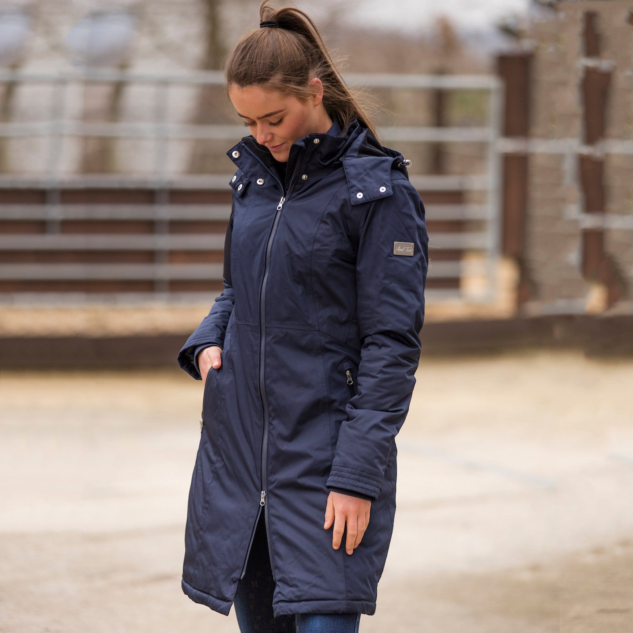 Mark Todd Ladies Performance Long Waterproof Coat TOD810182