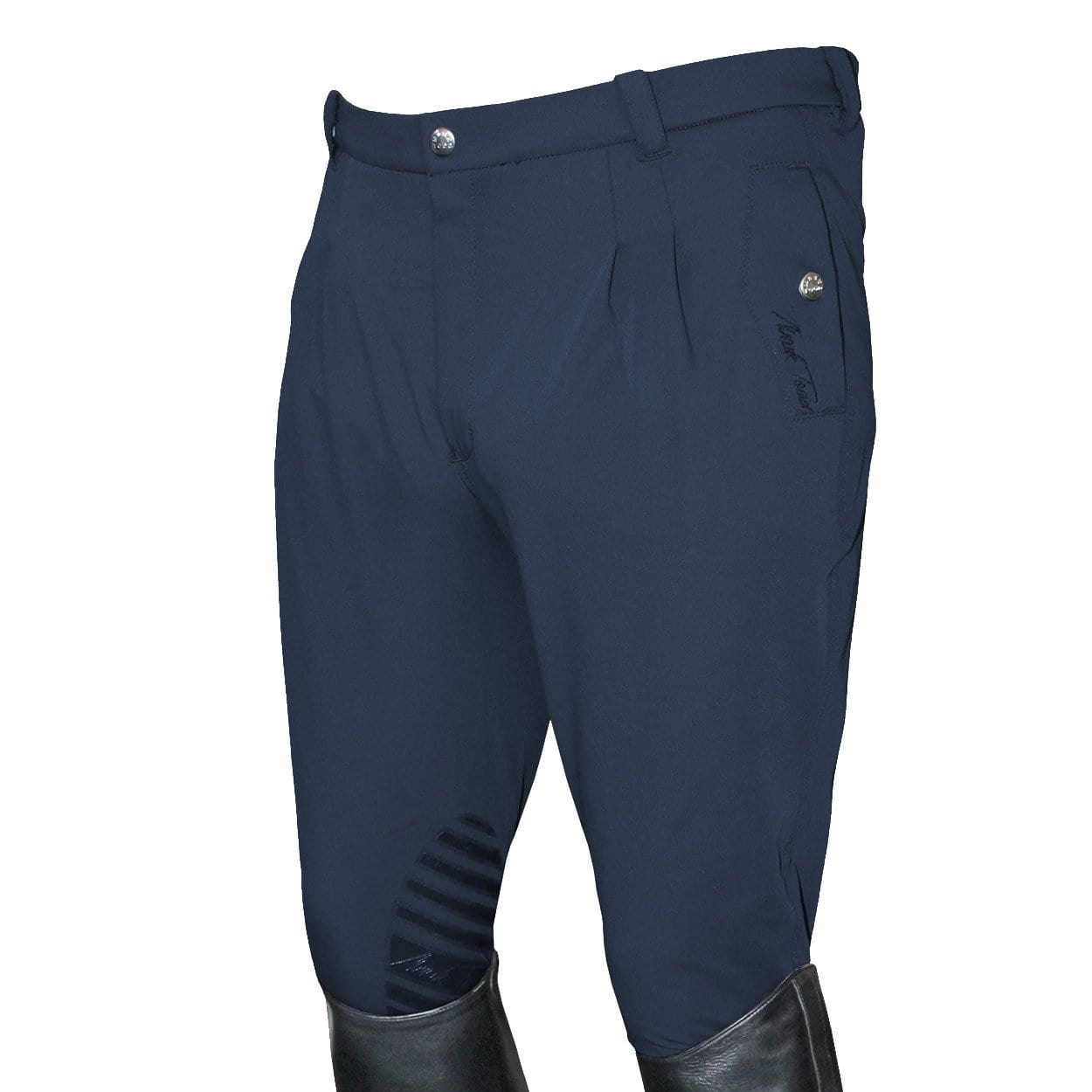Mark Todd Men's Coolmax Grip Silcone Knee Patch Breeches in Navy