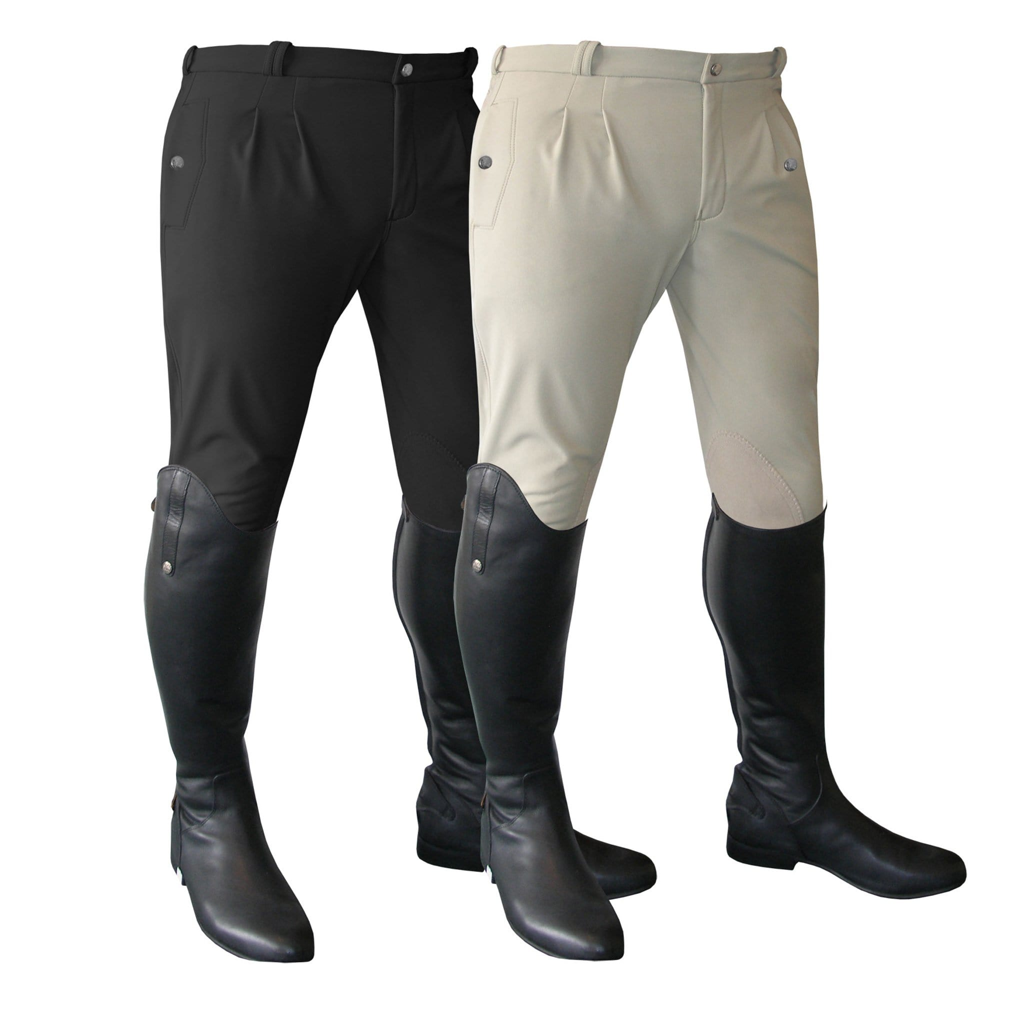 Mark Todd Men's Winter Performance Alos Knee Patch Breeches Both Colours 802664