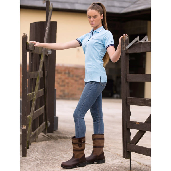 Mark Todd Short Leather Country Boot Lifestyle through gate 139395
