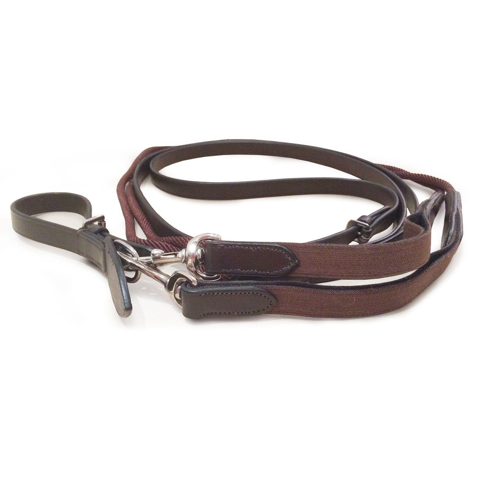 Mark Todd Leather and Rope Draw Reins Havana 892338