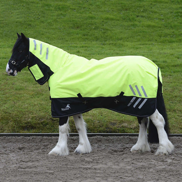 Masta Avante Hi Viz 200g Fixed Neck Turnout Rug Side View MAS4605