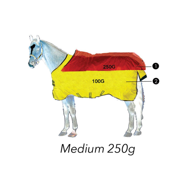 Horseware Rambo Supreme 250g Turnout Rug with Vari-Layer Graphic AAAX32