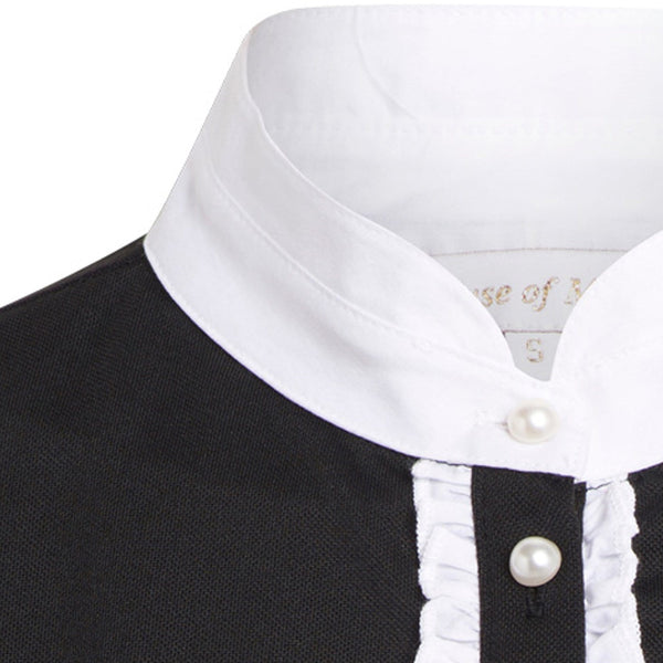 Montar Competition Shirt in Black ct1624 Placket Inset