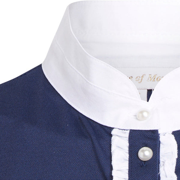 Montar Competition Shirt in Navy ct1627 Placket Inset