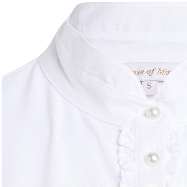 Montar Competition Shirt in White ct1621 Placket Inset