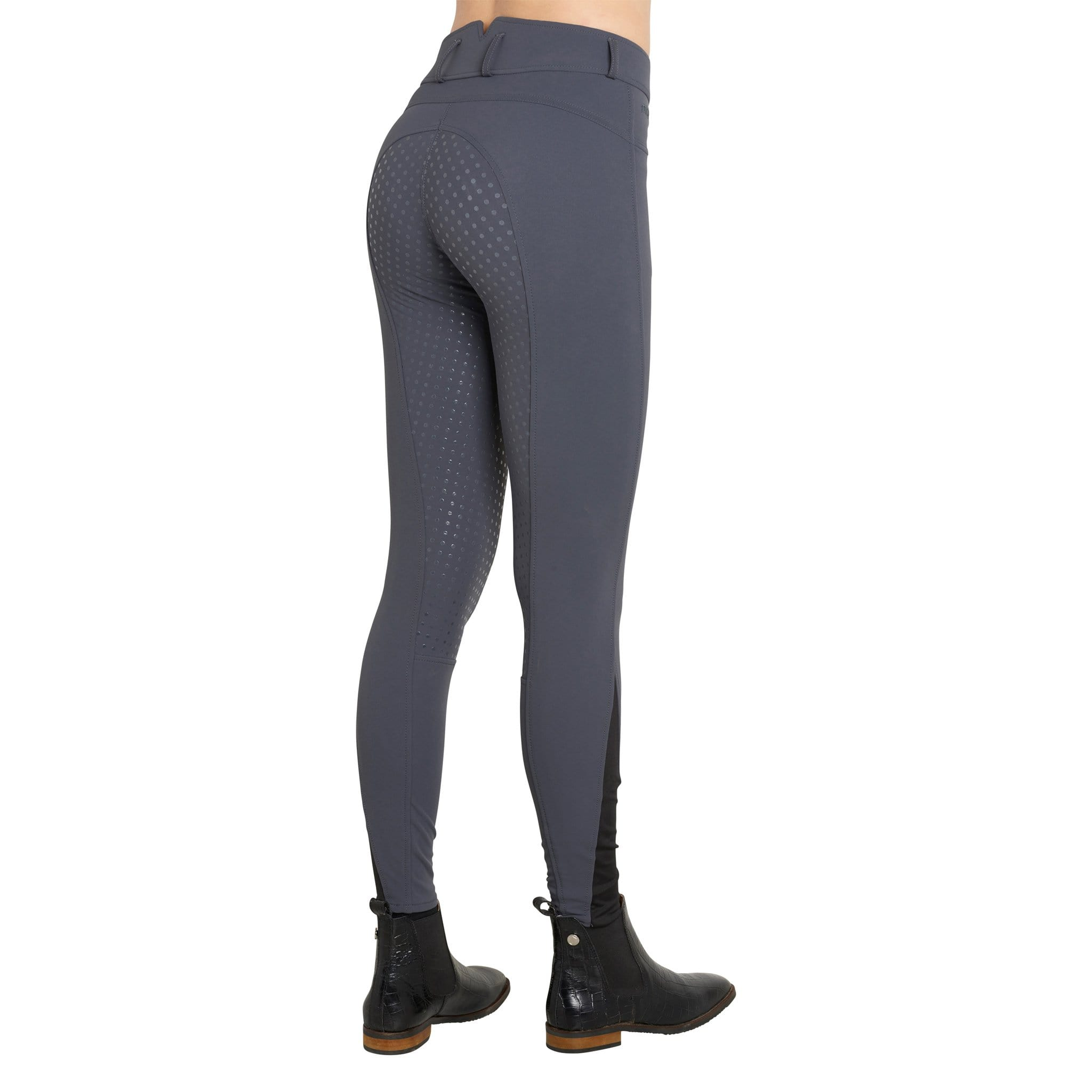 Montar High Waist Silicone Full Seat Breeches Dark Grey Studio 2078