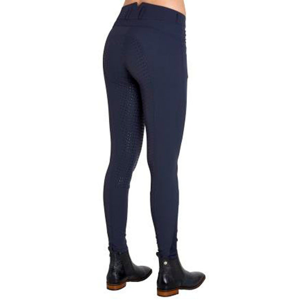 Montar High Waist Full Seat Silicone Breeches in Navy Blue 2078/73