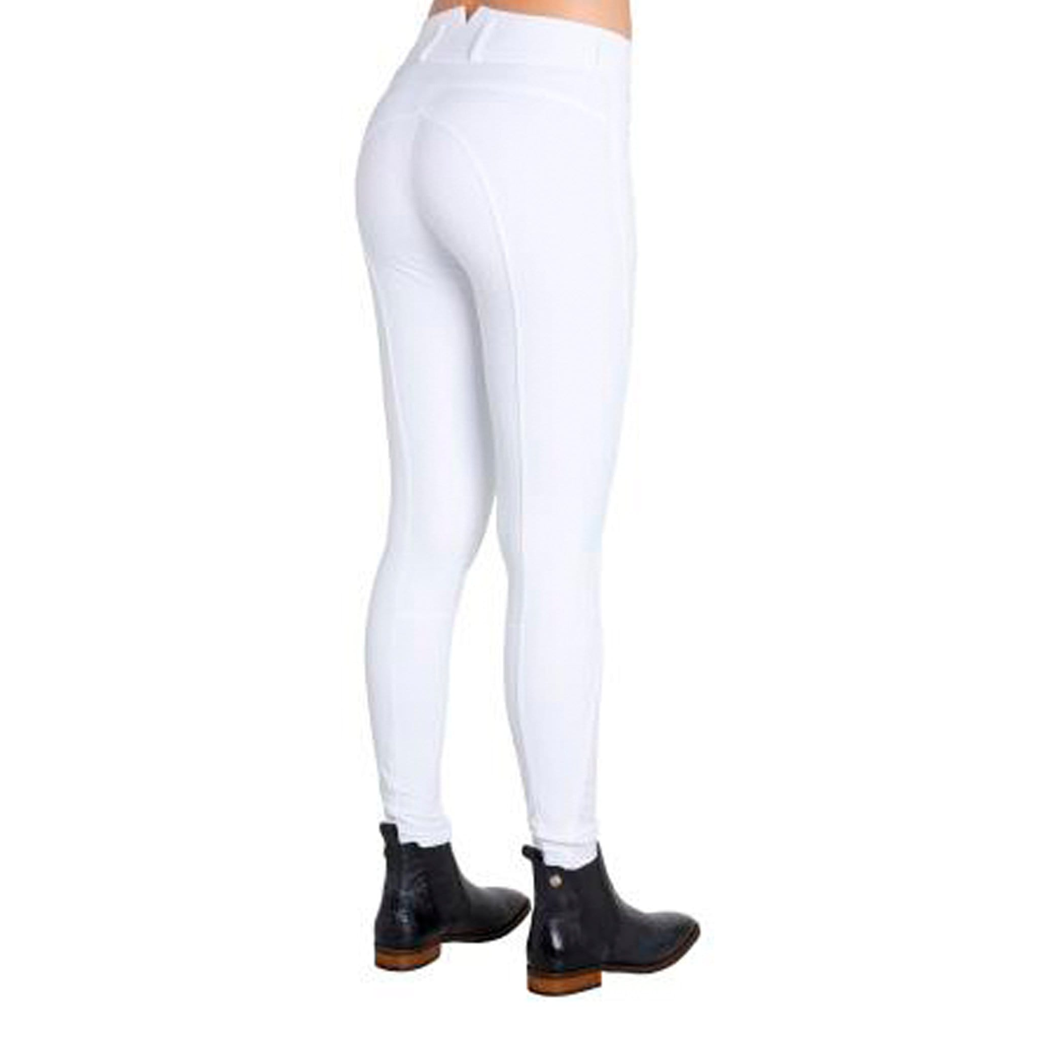 Montar High Waist Silicone Full Seat Breeches White Studio 2078