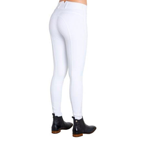 Montar High Waist Full Seat Silicone Breeches in White 2078/13