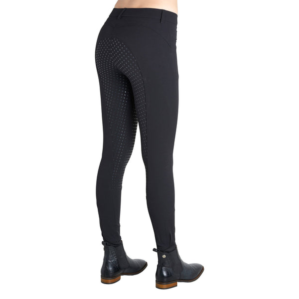 Montar Normal Waist Full Seat Silicone Breeches in Black