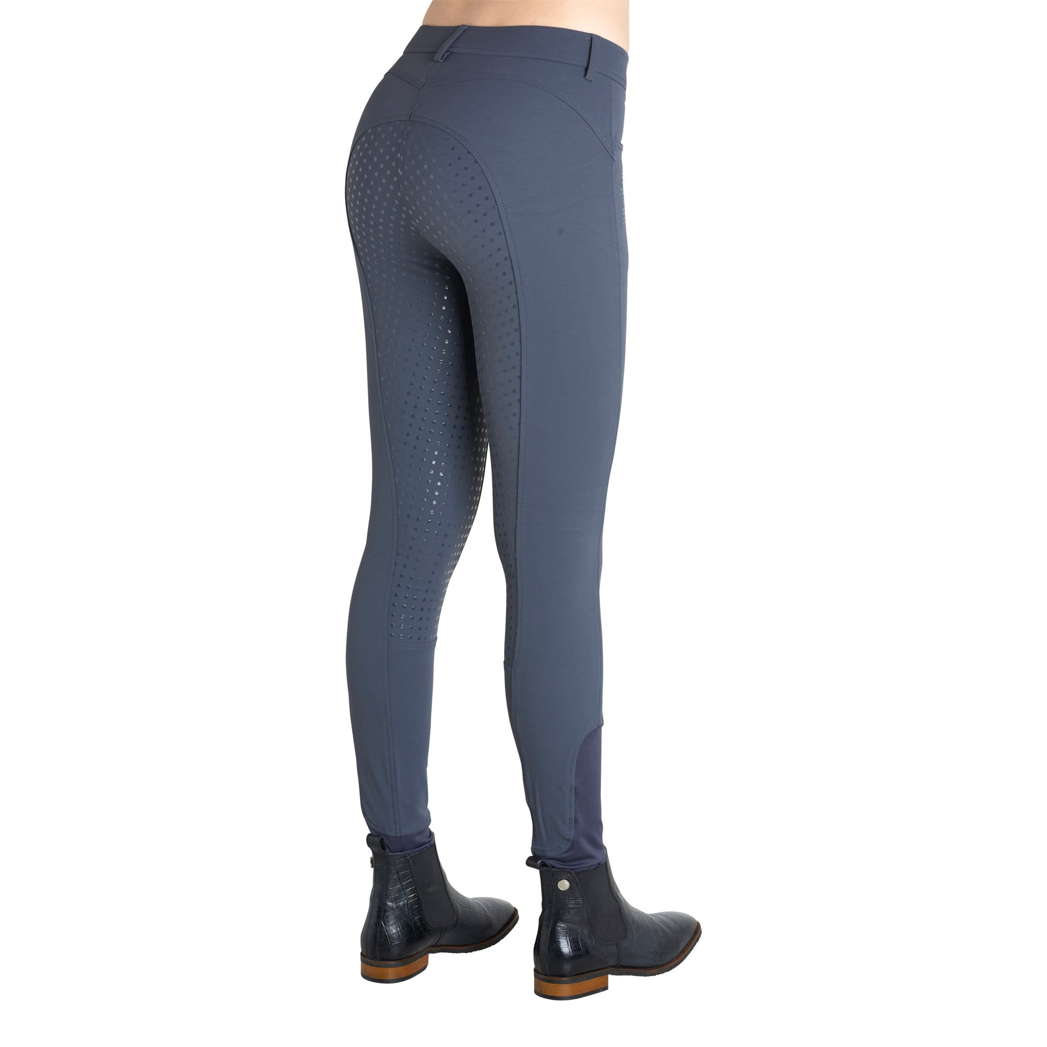 Normal Waist Full Seat Silicone Breeches Dark Grey 2077