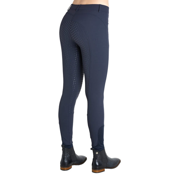 Montar Normal Waist Full Seat Silicone Breeches in Navy