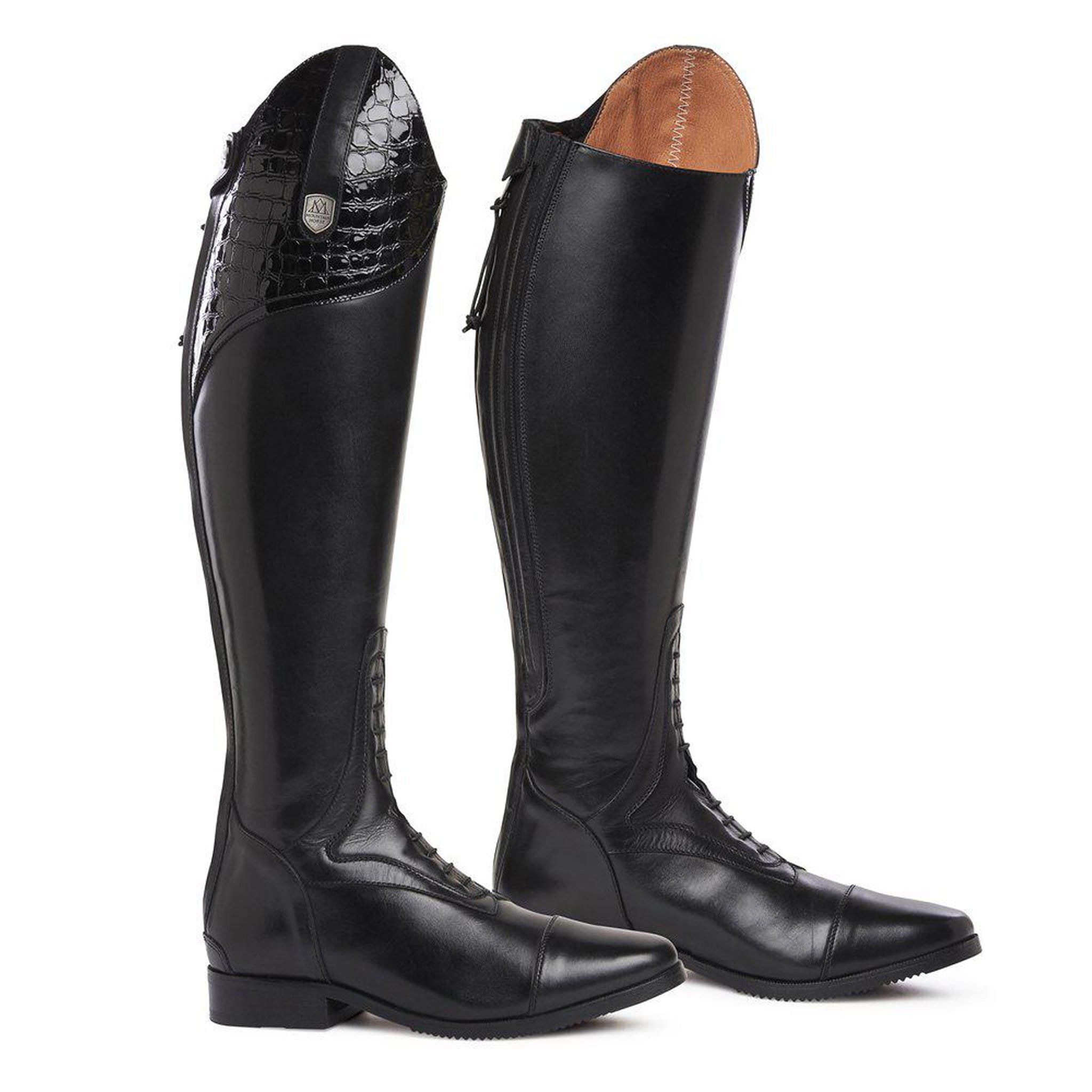 Mountain Horse Sovereign Lux Riding Boots - Black 0214 Studio Pair
