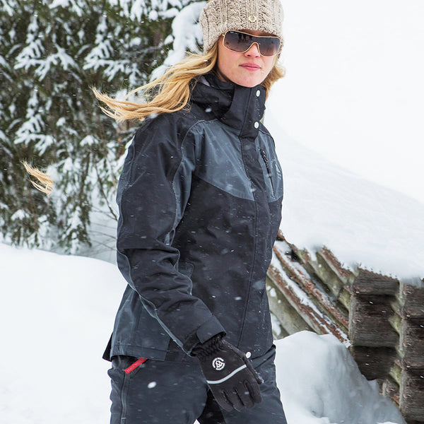 Mountain Horse Amber Jacket Black Lifestyle in the Snow 03214