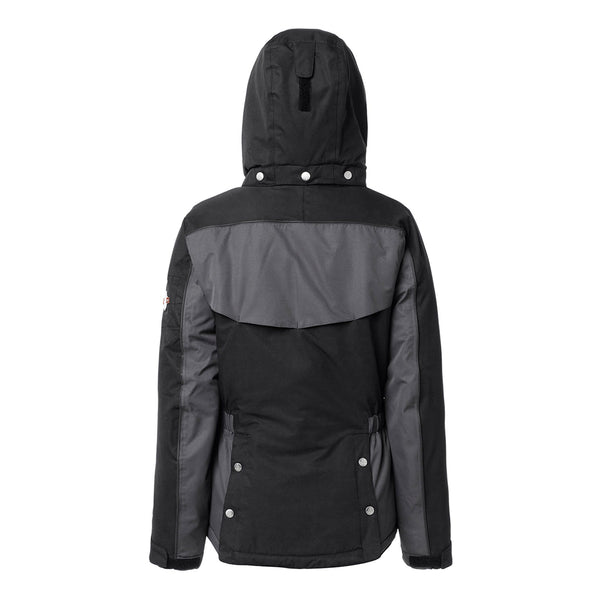 Mountain Horse Amber Jacket Black Studio Rear View Hood Up 03214