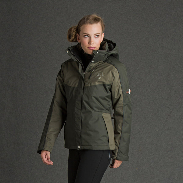 Mountain Horse Amber Jacket Olive on Model 03214